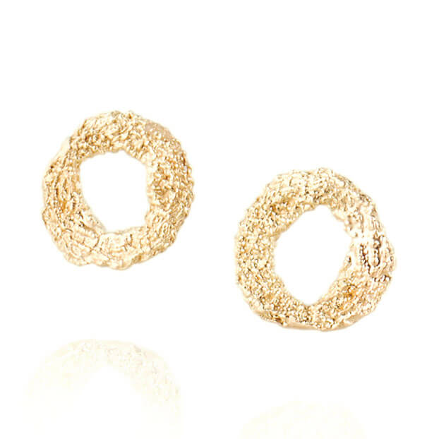 Alexandra Jacoumis 18kt Gold Mati Stud Earings Front
