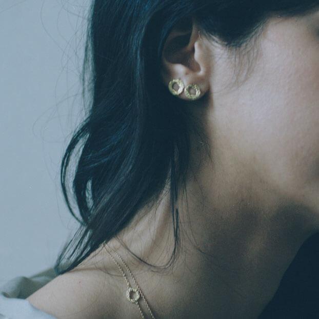 Alexandra Jacoumis 18kt Gold Mati Stud Earings Lifestyle