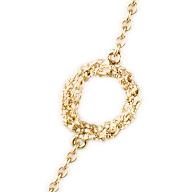 Alexandra Jacoumis 18kt Gold Seven Circle Necklace Detail 2