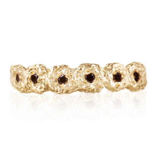 Alexandra Jacoumis 18kt Gold Shisha Crown Ring Detail