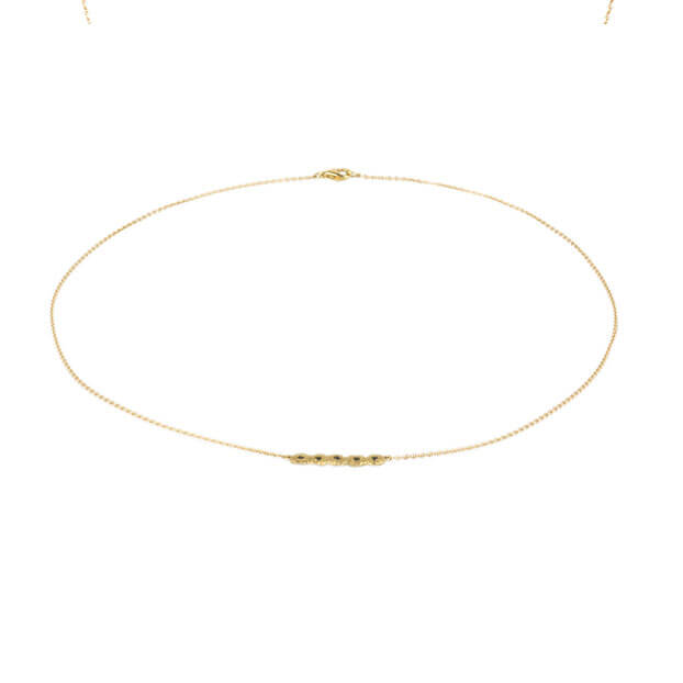 Alexandra Jacoumis 18kt Gold Shisha Line Necklace Full