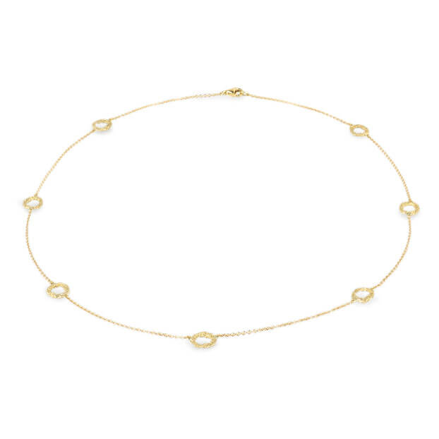 Alexandra Jacoumis 18kt Gold Seven Circle Necklace Full