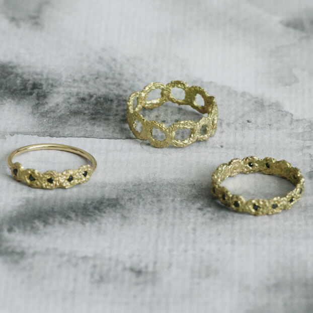 Alexandra Jacoumis 18kt Gold Ring Selection