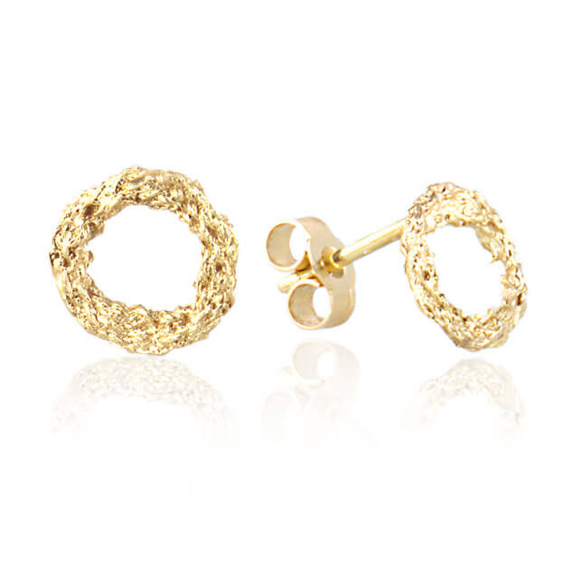Alexandra Jacoumis 18kt Gold Circle Stud Earings Main