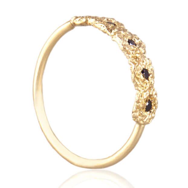 Alexandra Jacoumis 18kt Gold Shisha Tiara Ring Main