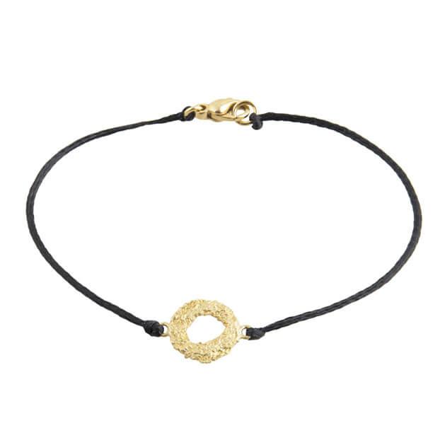 Mati Bracelet on Black Cord