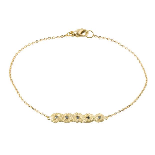18kt Gold Shisha Line Bracelet